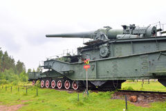 305-mm железнодорожное оружие TM-3-12 Стоковые Фотографии RF