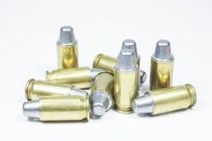 11 mm. Черные личное огнестрельное оружие и боеприпасы Стоковые Изображения RF
