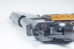 11 mm. Черные личное огнестрельное оружие и боеприпасы Стоковые Изображения