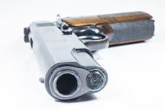 11 mm. Черные личное огнестрельное оружие и боеприпасы Стоковые Фотографии RF