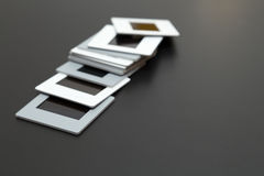 35mm幻灯片与拷贝空间的影片diapositives 库存照片