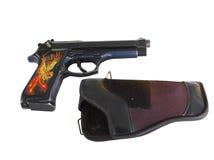 9 mm枪 免版税库存图片