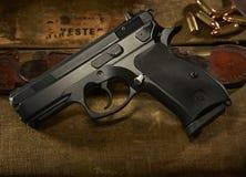9mm枪 库存图片