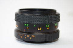 55mm analog lens in close view Stock Photography