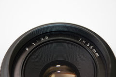 55mm analog lens in close view Royalty Free Stock Images