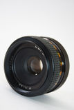 55mm analog lens in close view Royalty Free Stock Image
