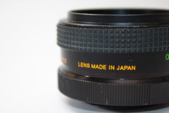 55mm analog lens in close view Royalty Free Stock Photography