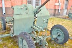 25mm anti-aircraft gun installation of 1940 year. Royalty Free Stock Image