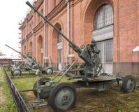 37-mm automatic anti-aircraft gun Stock Photo