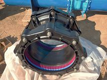 500mm black waga multi joint members. Spare parts for repairing of  piping Royalty Free Stock Photography