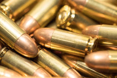 9mm bullet. Close up background of 9mm bullet Royalty Free Stock Images