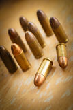 9mm bullet for a gun. (dark style Stock Photography