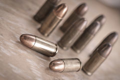9mm bullet for a gun Royalty Free Stock Image