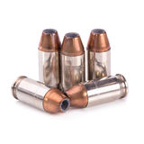 9mm bullet for a gun isolated on white background Royalty Free Stock Image