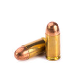 9mm bullet for a gun isolated on white background Royalty Free Stock Images