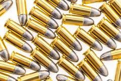 .9mm bullet for gun on white background. 9mm bullet for gun on white background Stock Photo