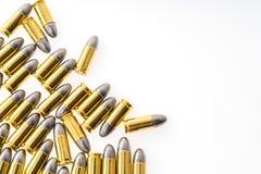 9mm bullet for gun on white background. 9mm bullet for gun on white background Royalty Free Stock Image
