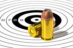 9mm bullet head. Stock Images