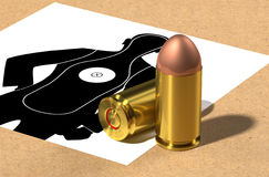 9mm bullet head. Royalty Free Stock Photography
