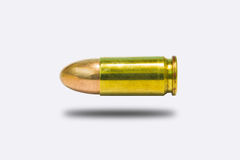 9mm. bullet isolate on white Stock Photos