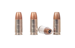9mm bullet. Isolated on white Stock Image