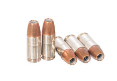 9mm bullet. Isolated on white Royalty Free Stock Images