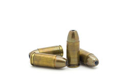 9mm bullet isolated. On white background Stock Photo