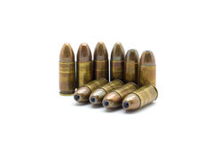 9mm bullet. On white background Royalty Free Stock Photos