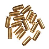 9mm bullets isolated on white. High resolution photo Royalty Free Stock Photography