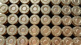 9 mm bullets Royalty Free Stock Images