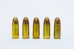 9mm bulltes de pratique Photos libres de droits