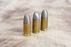 The 9mm caliber cartridges Royalty Free Stock Photography