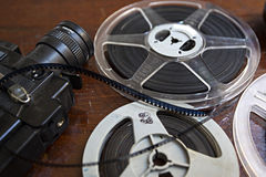 8mm camera. Antique 8mm film camera shown by a collector during a local trade fair in the island of Majorca, Spain Royalty Free Stock Image