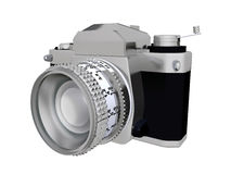 35 mm Camera. Computer generated 3D illustration with a 35 mm Camera isolated on white background Royalty Free Stock Image