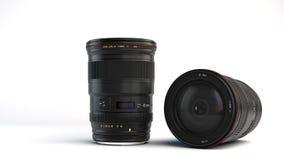 7-40 mm camera lens. Computer Generated Illustration of 17-40 mm camera lens on White Background vector illustration