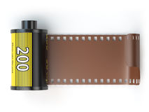 35mm camera photo film canisters isolateed on white. 3d illustration Stock Photos