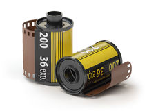 35mm camera photo film canisters  Royalty Free Stock Photography