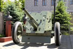 45 mm cannon the Second World War Stock Photos