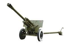76 - mm cannon ( ZIS- 3) Soviet army Royalty Free Stock Photos