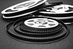 8mm cine film reels. Still life of 8mm cine film reels Stock Photography