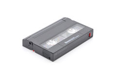 8mm Computerdatenband-Ersatzdatenregister über weißem Hintergrund Stockfotografie