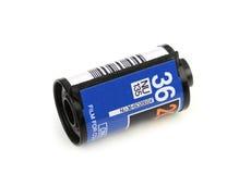 35mm de spoel van de fotofilm, op witte achtergrond wordt geïsoleerd die Royalty-vrije Stock Foto