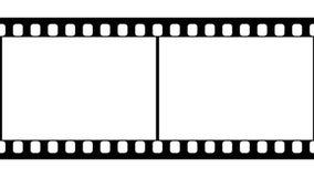 35mm de Zwart-witte Videolengte van de Filmstrook stock footage