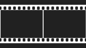 35mm de Zwart-witte Videolengte van de Filmstrook stock videobeelden