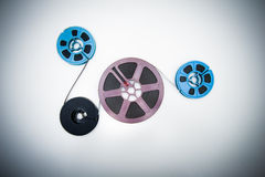 8mm different reels connected with film Royalty Free Stock Photography
