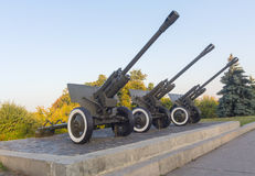 The 76-mm divisional gun M1942 (ZiS-3) on the monument Royalty Free Stock Images