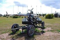 23 mm dobierający się antiaircraft emplacement Techniczny muzeum K g Sakharov pod otwartym niebem w mieście Togliatti Fotografia Stock