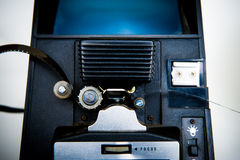 8mm editing machine detail with film Royalty Free Stock Images