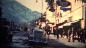 (8mm Film) Boulder Colorado Downtown 1949 stock video