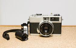 35mm Film cameras, and films Royalty Free Stock Photography